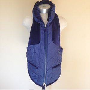 Free People quilted velvet panel puffer vest